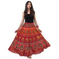 Hippie Bohemian Gypsy Skirt K196