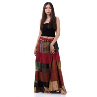 Patchwork Long Skirt Bohemian Style KP337