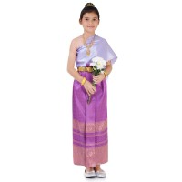 Thai Costume for Girl 7-18 Year THAI317