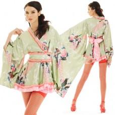 Light Green Sexy Geisha Lolita Kimono XKS45