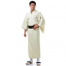 Japanese Men's Yukata Kimono Cream XKM114-Yukata