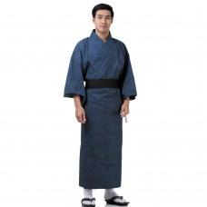 Japanese Men's Yukata Kimono Blue XKM123