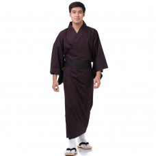 Japanese Men's Yukata Kimono Red XKM125
