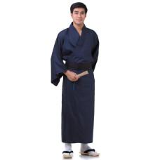 Japanese Men's Yukata Kimono Blue XKM126
