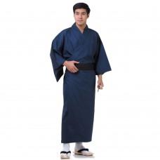 Japanese Men's Yukata Kimono Blue XKM128