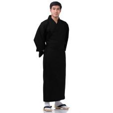 Japanese Men's Yukata Kimono Black XKM131