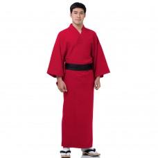 Brown Japanese Men's Yukata Kimono XKM133