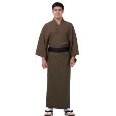 Japanese Men's Yukata Kimono Brown XKM134
