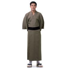 Japanese Men's Yukata Kimono Brown XKM74-Yukata