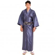 Men's Yukata Kimono Blue grey