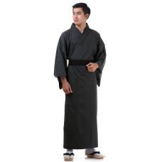 Japanese Men's Yukata Kimono Black XKM91