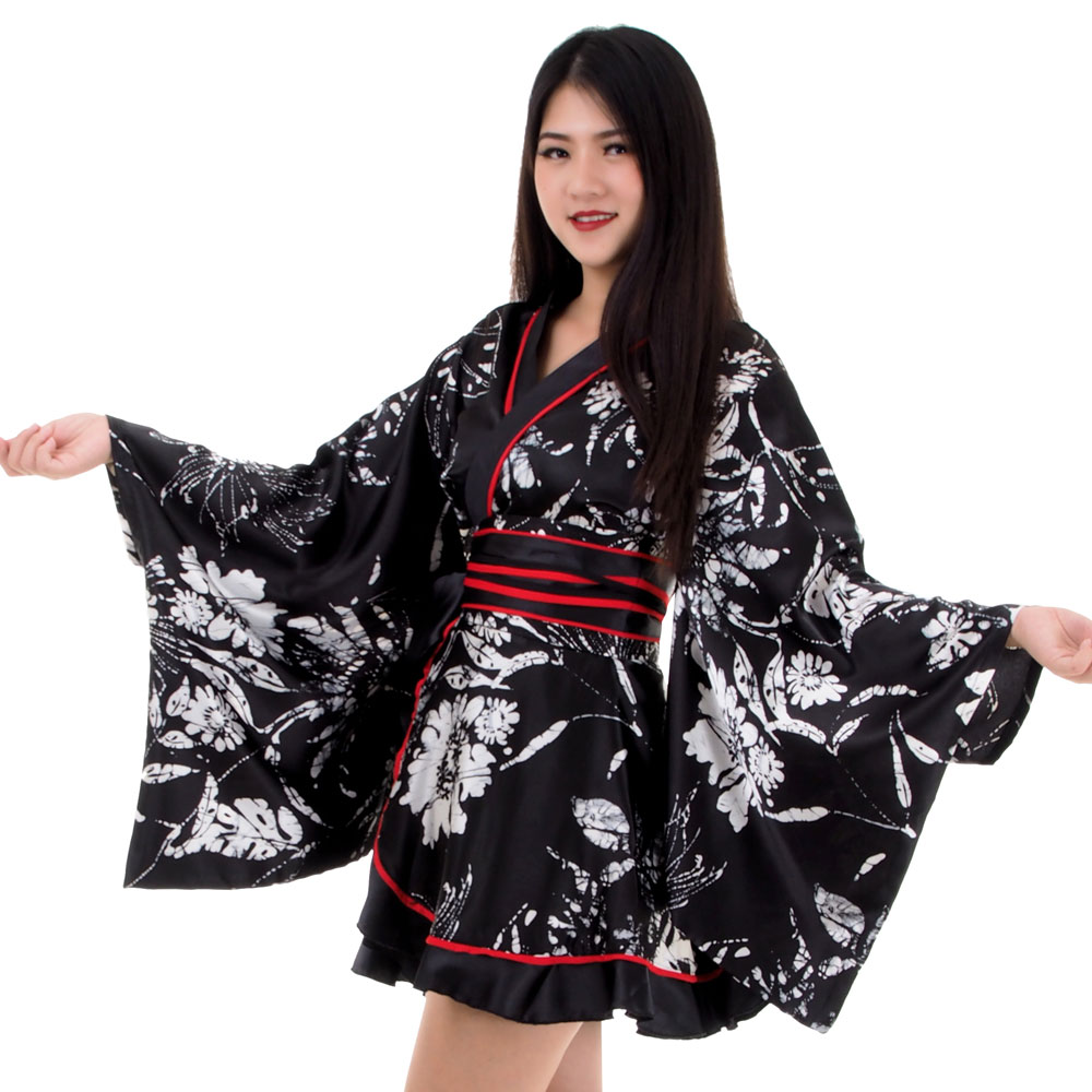Sexy Peach Floral Printed Short Sleeve Plus Size Kimono